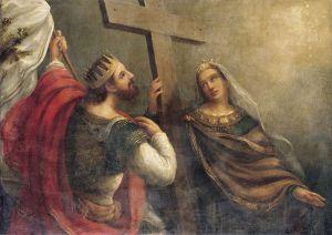 Святые Константин и Елена. (Картина В. К. Сазонова, XIX в.)
