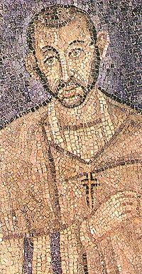Св. Амвросий Медиоланский, мозаика IV-V вв.