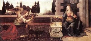Благовещение, Леонардо да Винчи