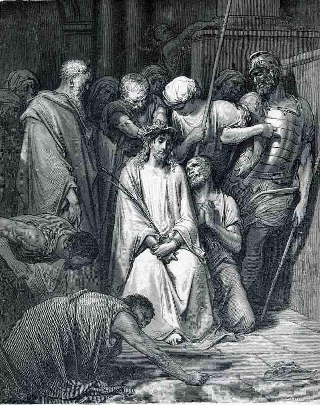 На Иисуса Христа возлагают терновый венец. Гюстав Доре